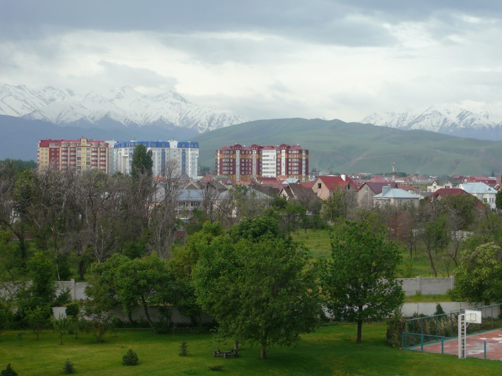Glaciers above the capitol Bishkek are closely monitored in case of flooding. (Jessica Gardner/Flickr)