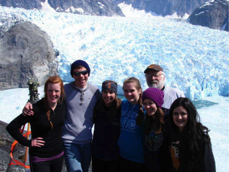 A program for high school students in Alaska brings 16 and 17 year olds up close and personal to glaciers. (Vic Trautman/LeConte Survey Program)