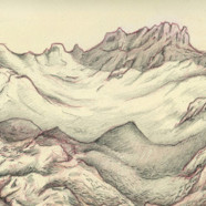 Drawing Montana's glaciers at a glacial pace