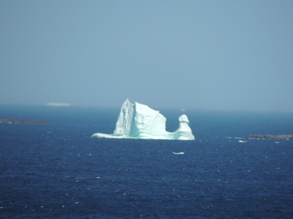 "A ""sailing ship"" iceberg off the coast of Fogo Island, July 17, 2014. (Bonnie J. McCay)"