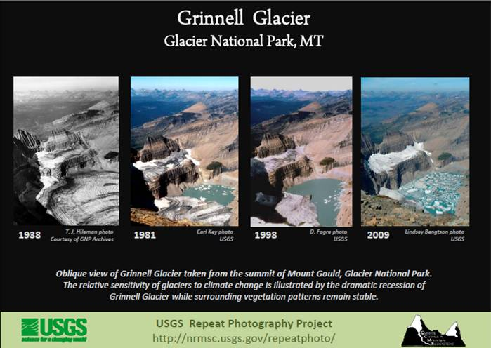 Grinnell Glacier before after