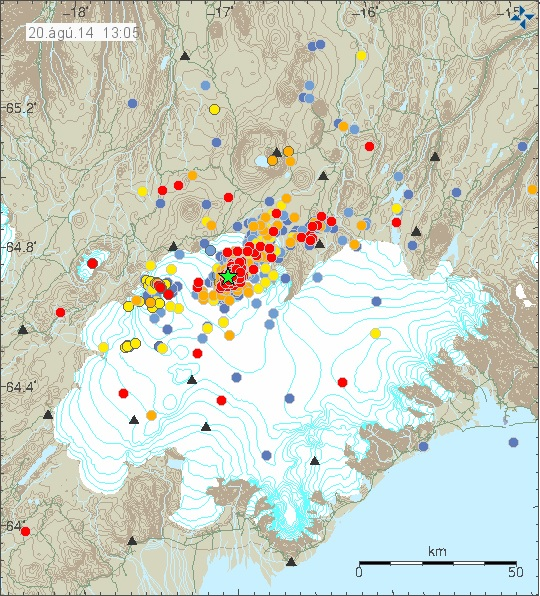 Iceland earthquakes wednesday august 20