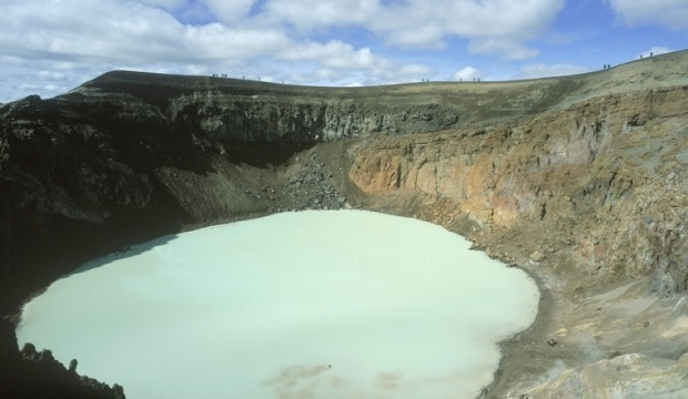 lake at summit caldera in Askja  source  Iceland Review