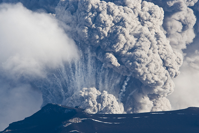 Ash clouds emminating from volcano blasts are highly dangerous for jet engines. (Aviation Safety Institute)