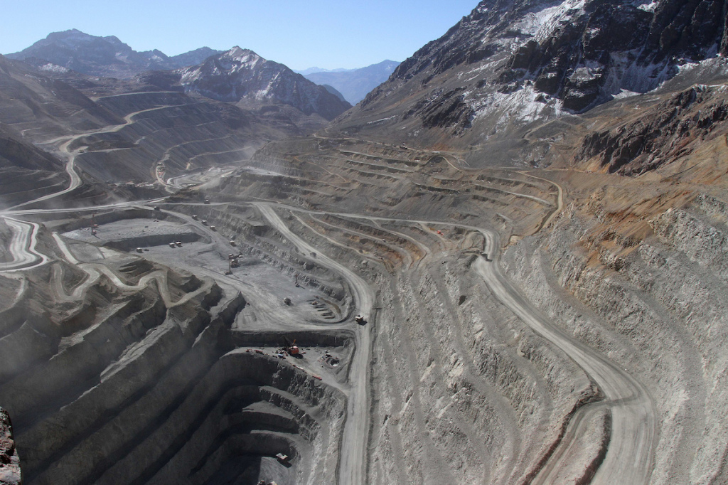 The site of Andina 244, Codelco's proposed expansion of its Andina copper mine. (©Codelco)