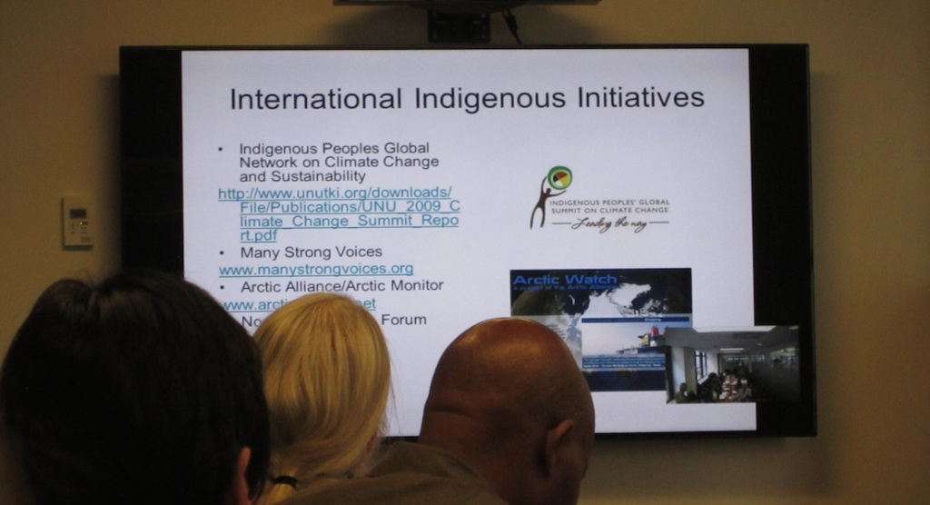 A discussion of international indigenous initiatives. (photo: Ben Orlove)