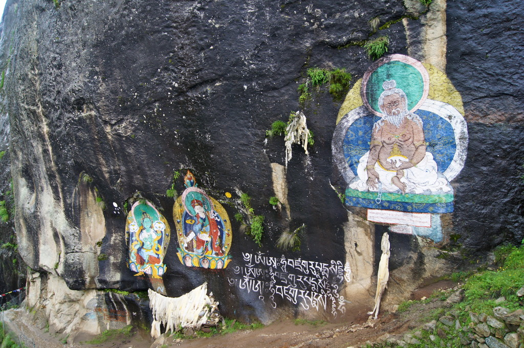 Rock painting in Khumbu. (Pasang Sherpa)