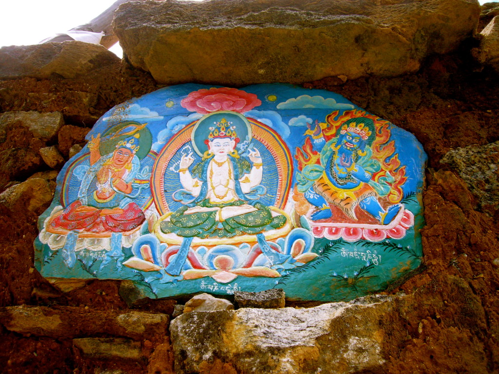 Rock painting in Pharek. (Pasang Sherpa)