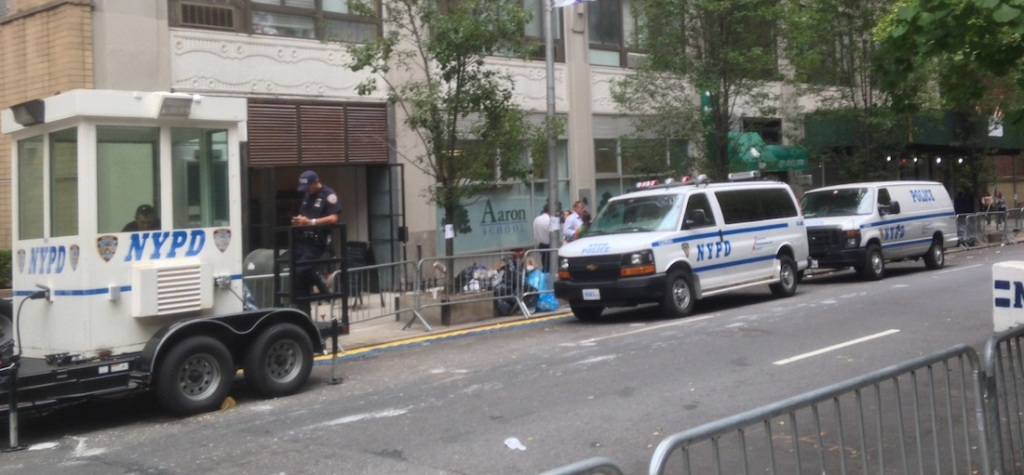 Tight security outside the United Nations (photo: Ben Orlove)