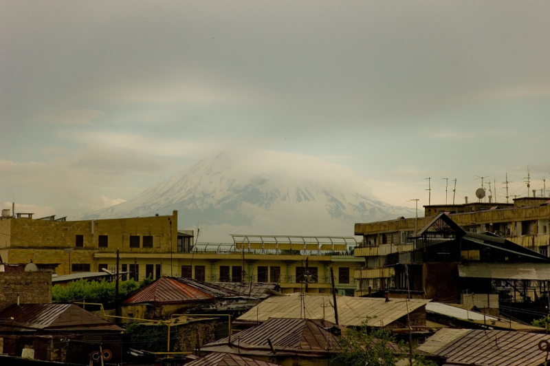 A picture of Mt Ararat from Yerevan