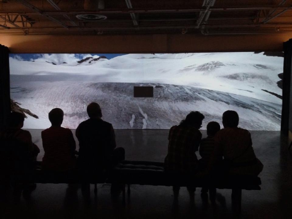 Visitors to the Requiem for a Glacier Exhibition
