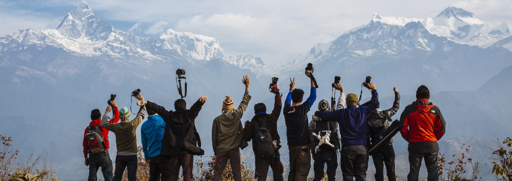 Tourists at Sarangkot Development Committee, Nepal Himalaya (Source: Wazari Wazir)
