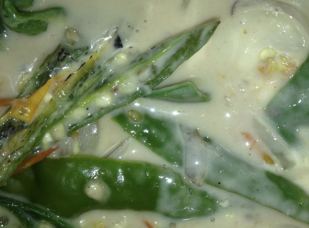 Green chilies cooked with fermented yak cheese. (photo: Ben Orlove)