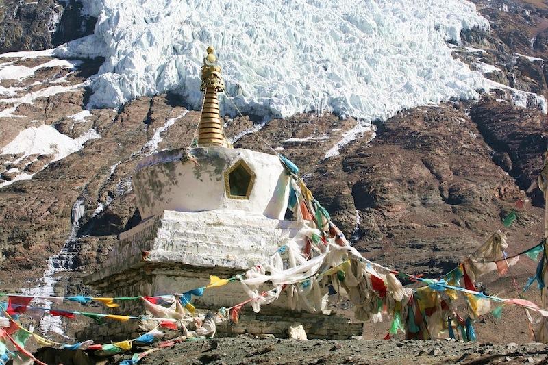 西藏浪卡子卡若拉冰川佛塔_Tibet