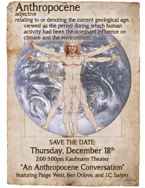 Anthropocene event poster (Source: American Museum of Natural History)