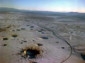 SIte of last underground nuclear test in the United States, conducted in 1992 (Source: National Nuclear Safety Administration)