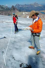 people studying glaciers