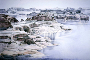 Lake Powell #3, colored pencil on paper, 40 x 60 inches, 1980. Grand Canyon series. © Diane Burko