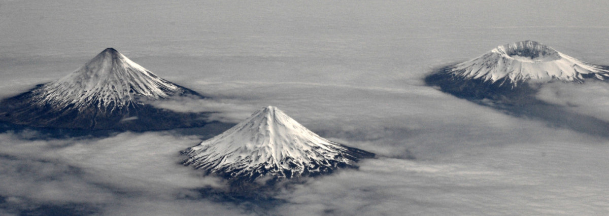 An Aerial Image of the Aleutian Islands