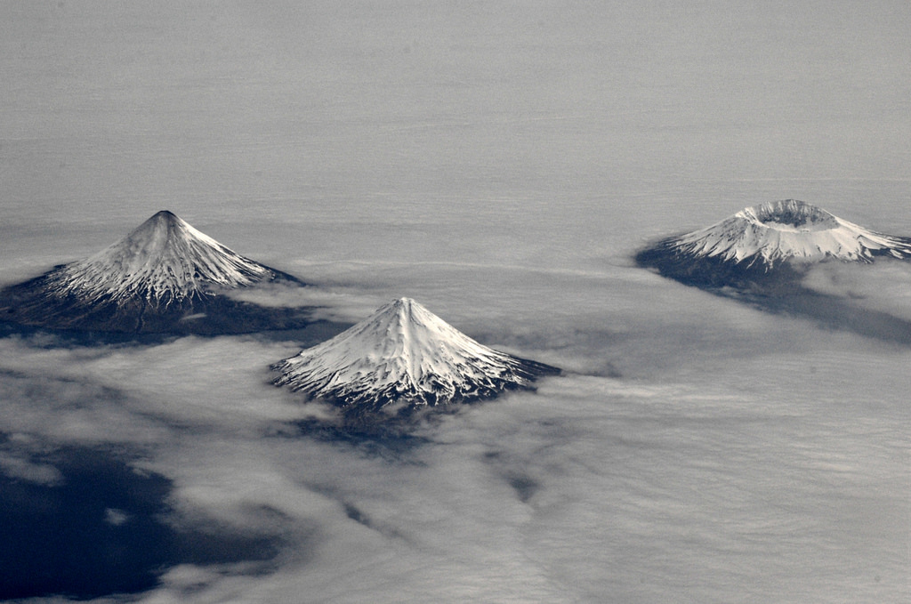 Ariel Photo of Aleutian Island of Four Mountains