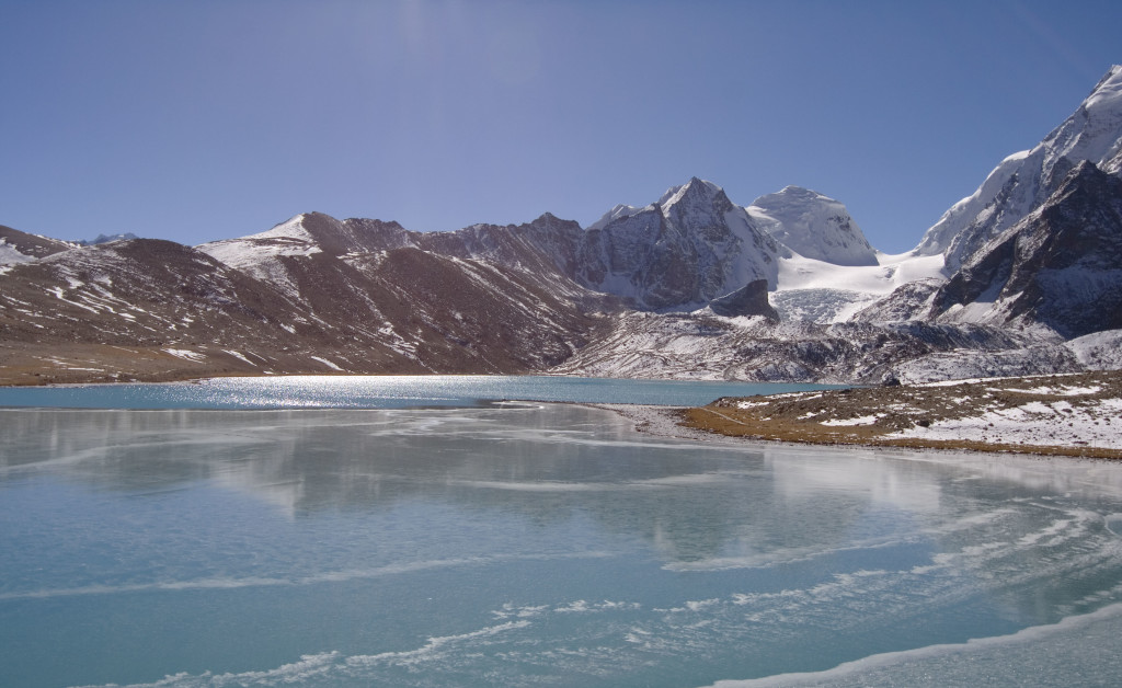 Gurudongmar Lake, is one of the highest lakes in the world located at an altitude of 17,100 feet in North Sikkim, India. It is located in a plateau area contiguous to the Tibetan Plateau. (Photo: Shayon Ghosh)