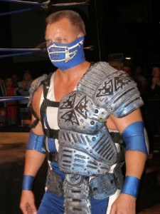 "A picture of Ray Lloyd ""Glacier"" in his ""battle armor"""
