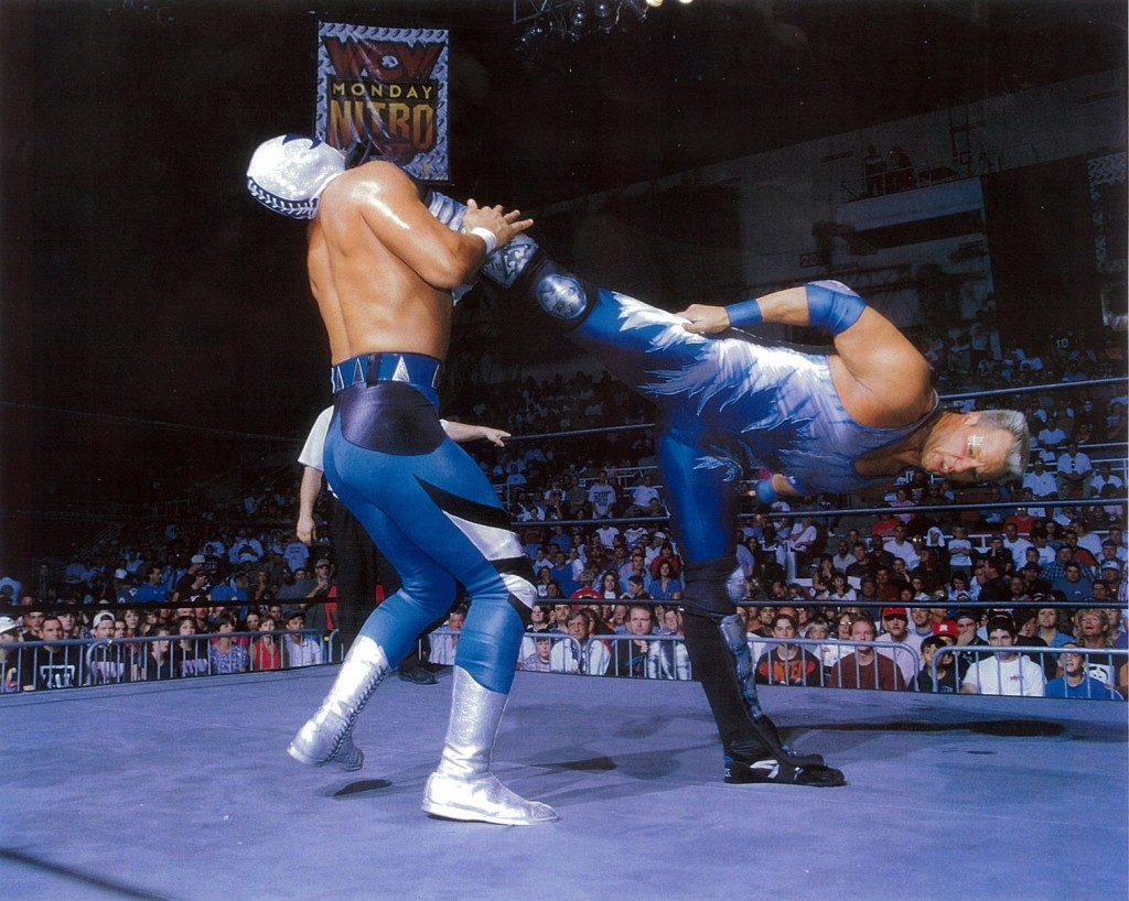 A picture of Ray Lloyd as Glacier doing his Cryonic Kick