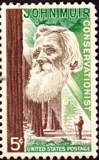 John Muir commemorative 5 cent stamp, 1964 © U.S. Post Office