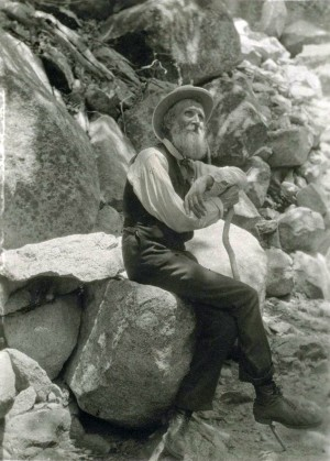 John Muir in 1907.  Public Domain. Source: Francis M. Fritz