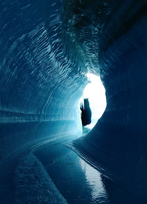 Ice cave in  Belcher Glacier, Devon Island, Canada (Photo: Angus Duncan/NASA)