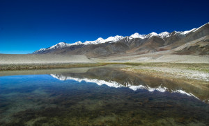 Lakes and glaciers in Tibetan Plateau