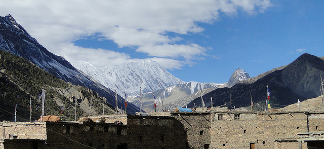 Glacier view from Manang Rooftops (Photo: Flickr)