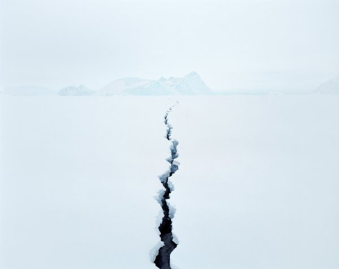 Jean de Pomereu (French, b. 1969), Fissure 2 (Antarctica) from Sans Nom, 2008, archival inkjet print, 107 x 129 cm, Whatcom Museum, Gift of the artist