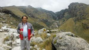 Saul Lliuya, a small farmer and tour guide from Huaraz, Peru, who is seeking compensation from a German company for increased flood risk due to greenhouse has emissions.