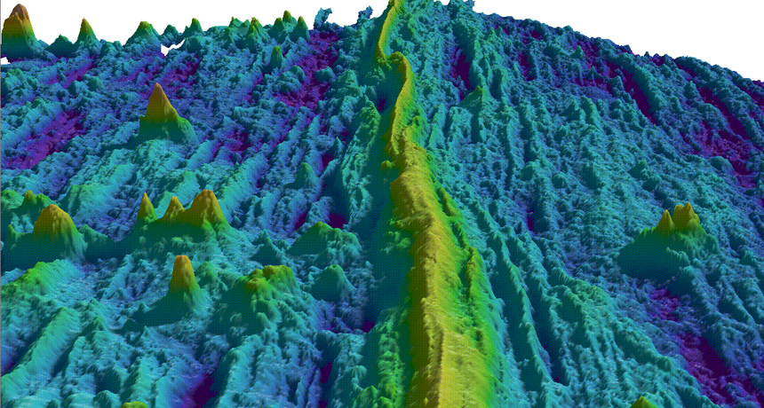 Ocean Floor topography/Abyssal Hills (Photo:sciencenews.org)