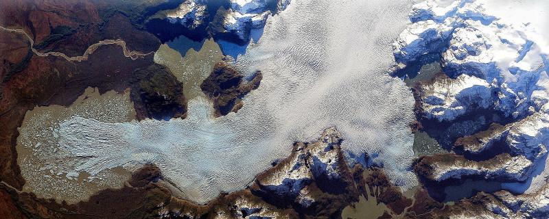 Edited NASA image of a Chilean glacier, unnamed. ©Stuart Rankin
