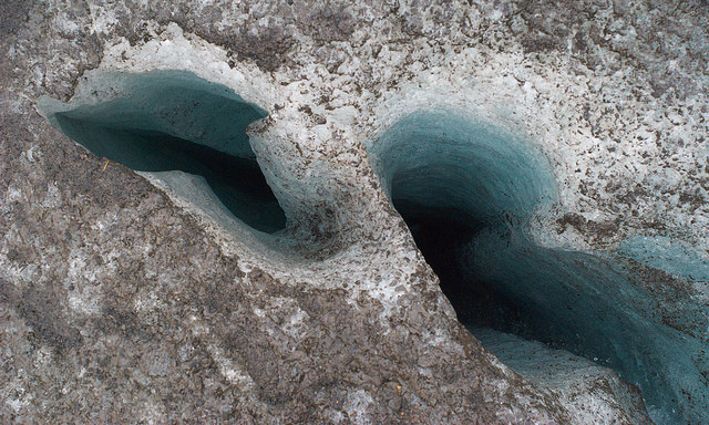 Crevasse shapes can vary