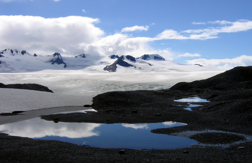 Harding Icefield, where ice worms live. Source:  Ianqui Doodle