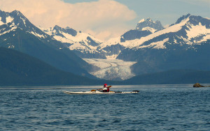 Kayak and Herbert Glacier. Source: Joseph/Flickr