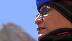 His Holiness Gyalwang Drupka, the twelfth incarnation of Drupka. Source:  Screenshot of Pad Yatra Documentary