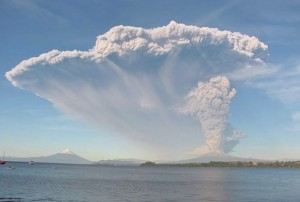 Early phase of eruption on 22 April (source: Facebook/Foch Metayer)