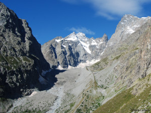 Figure 1: Glacier Noir in the French Alps on 20/08/2014.