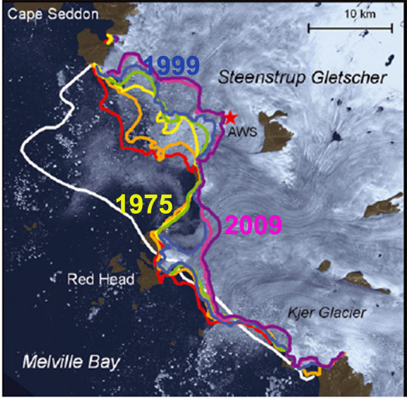 The map of Steenstrup Glacier. Source: AGU