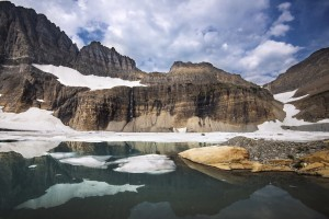 Upper Grinnell Lake in Glacier National Park, where Zapada glacier can be found (Source: GlacierNPS/Flickr).