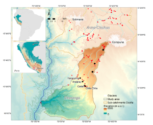 Location of the Chorunga study area in the Ocoña River basin. (Source: Ralph Lasage et al., 2015)