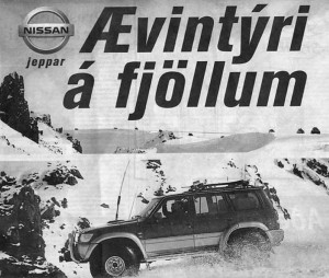 """Adventure in mountains"" An advertisement oriented to local users. (Source: Huijbens and Benediktsson)"
