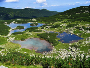 An image of Kurtkowiec Lake, an oligotrophic lake in the Tatra Mountains of southern Poland.