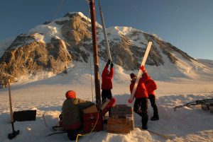 Ice core drilling. Credit: Doug Clark, Western Washington University