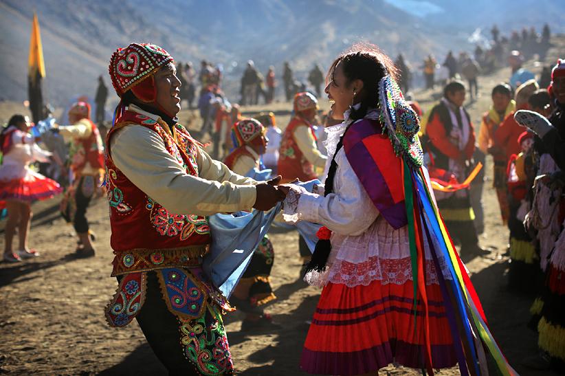 Dancers at Quyllur Rit'I.