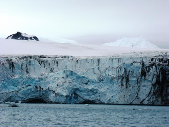 Calving Antarctic Glacier